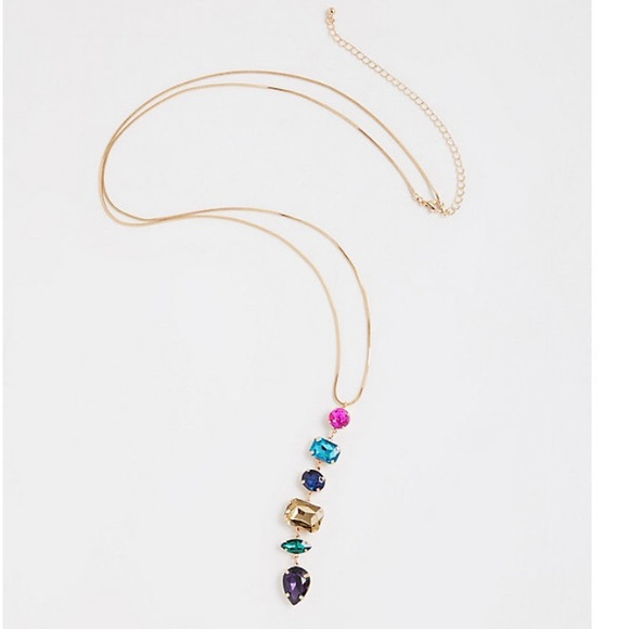 3/$50 NWT Torrid multi drop gem pendant necklace